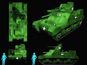 free american lee 3d model