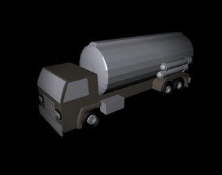 toy tanker truck 3d model