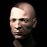 European Male Head 3d model