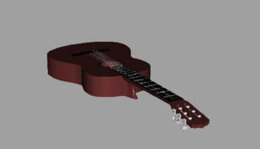 3d model accoustic guitar