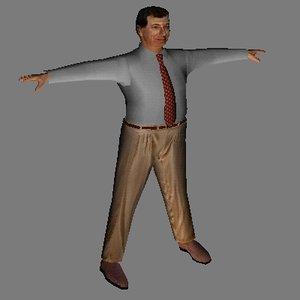 free w3d mode human male