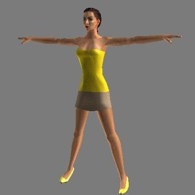 free human female 3d model
