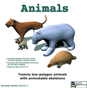 animals character studio 3d model