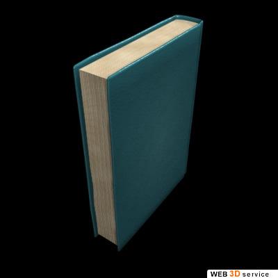 3d book close model