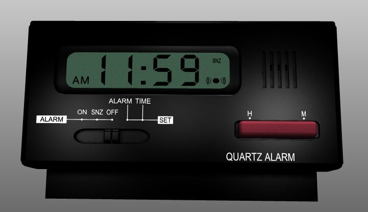 3d model digital alarm clock cob