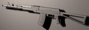 3d ak-74 assault rifle model