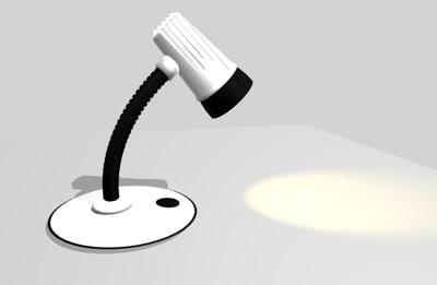 desk lamp bone light 3d cob