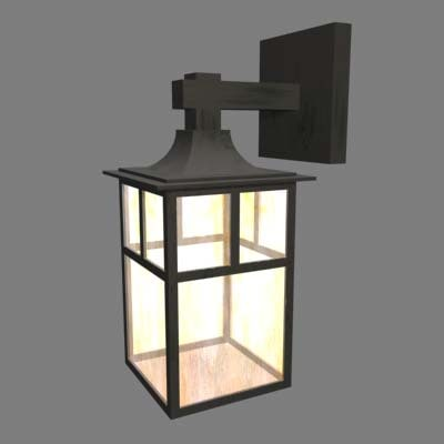 arts crafts wall sconce 3d 3ds