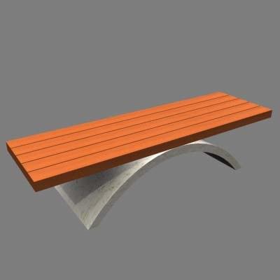 modern garden bench 3ds