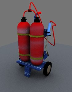 gas welding thing 3d max