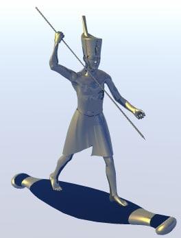 3ds max statue raft