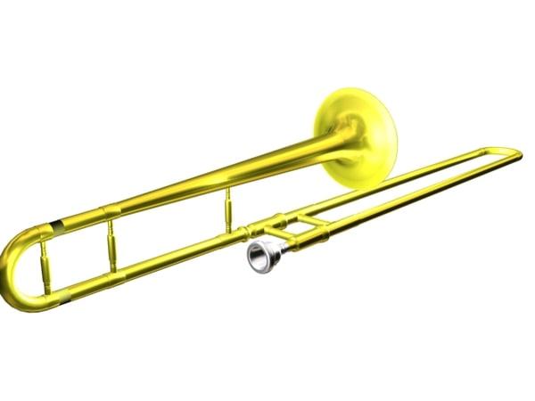tenor trombone 3d max