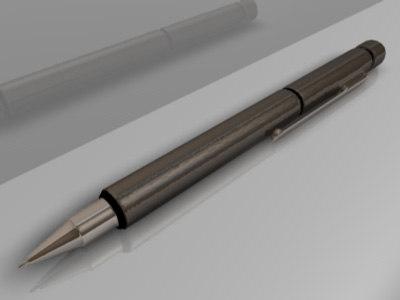 3d model lamy pen
