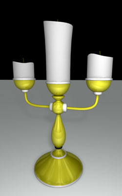 free ma model gold candle stick