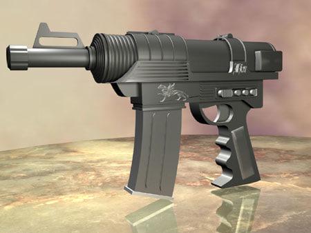 gun rifle weapon 3d model