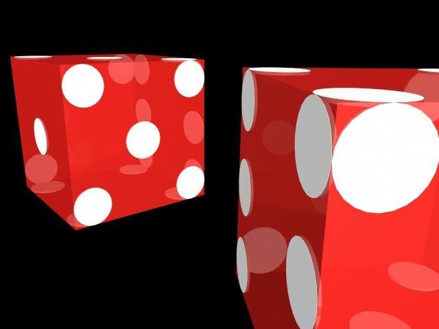 dice craps 3d model