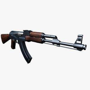 xsi russian ak-47 rifle