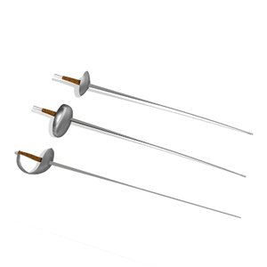 3d fencing foil saber weapon model