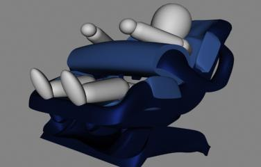 child safety seat 3d max