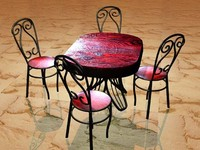 modern table chairs 3d max