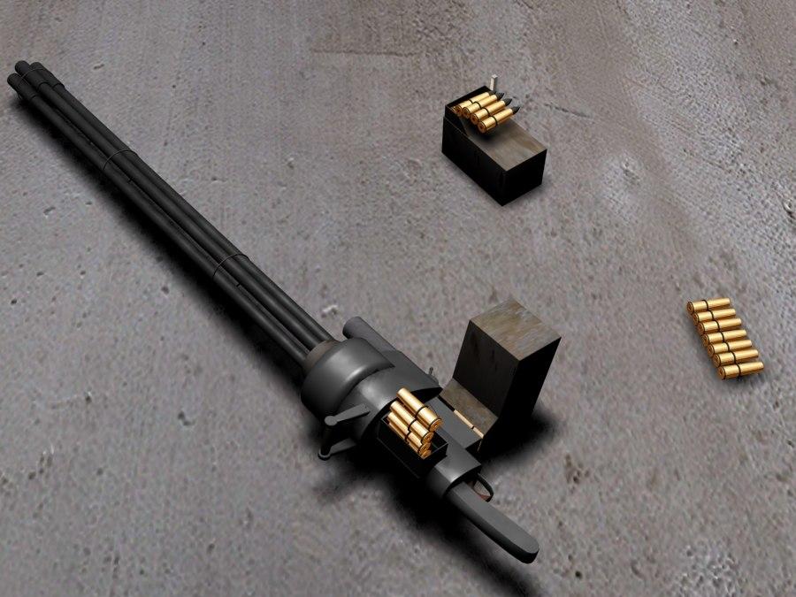 minigun 3d max