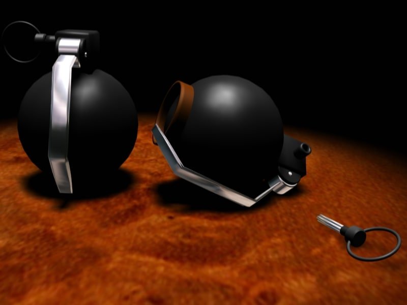 bomb grenade 3d model