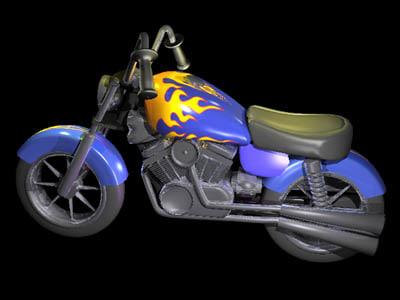 3d model of motorcycle