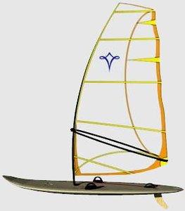 3d model windsurfer sailboard