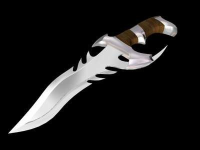 3d hunting knife model