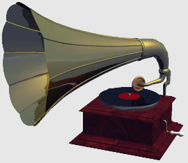 antique record player 3d model