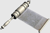 3d model hebrew scroll