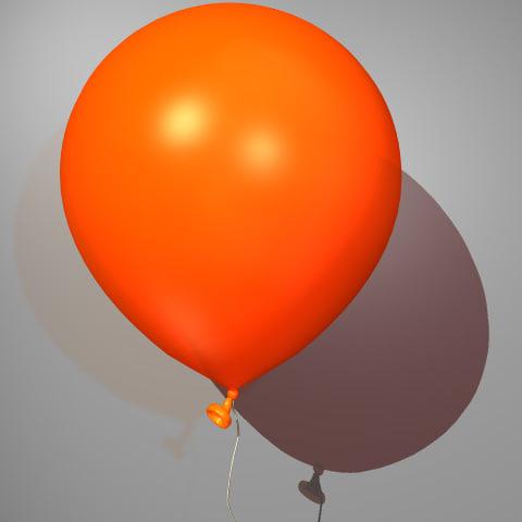 3d model of balloon drs