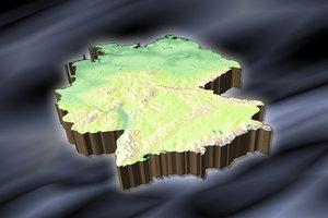 topographic germany 3d lwo
