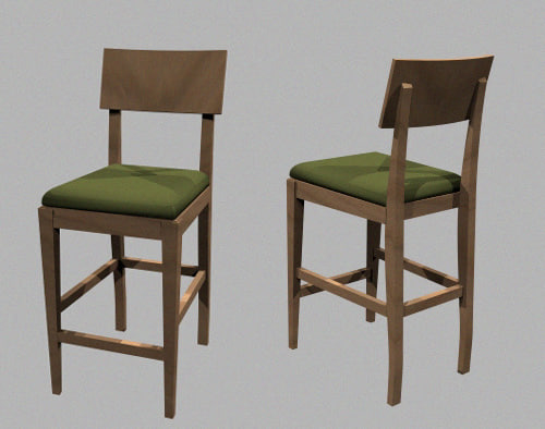 tall chair 3d max