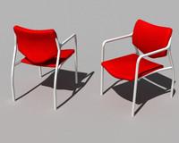 modern aside chair 3d model