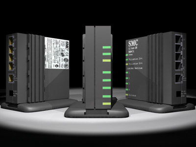 100mbit hub 3d model