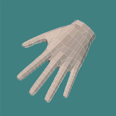 3d hand lightwave
