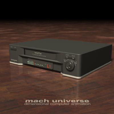3d model of mitsubishi vcr