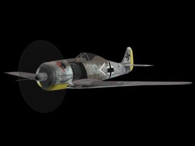 free fock wulf fw-190 iii 3d model
