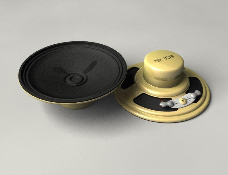 speaker 2 0 3d model