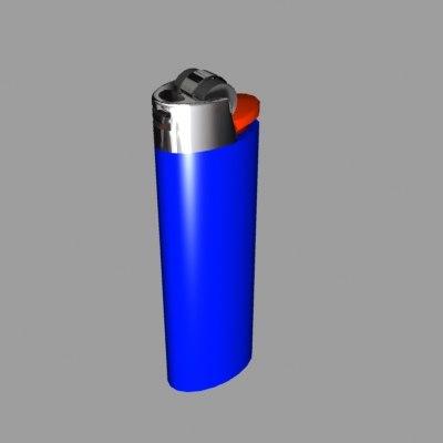 3d cigarette lighter model