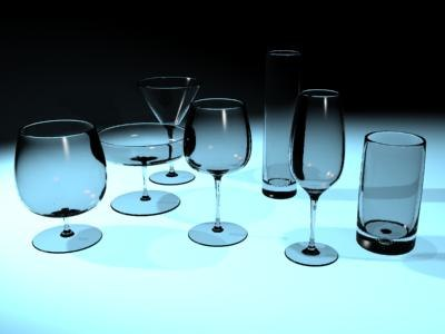 3d drinking glasses