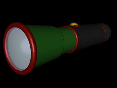 3ds max flashlight light