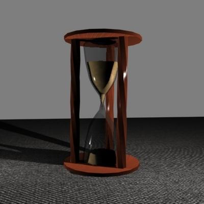 3d hourglass animation model