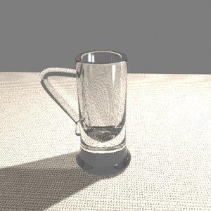 beer mug glass 3d model