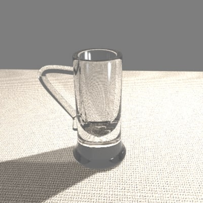 beer mug glass 3d model