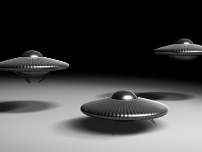 ufo wired 3d model
