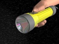 flare lighting flashlight 3d model
