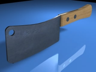 3d kitchen knife model
