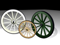 3d model of wagons wheels